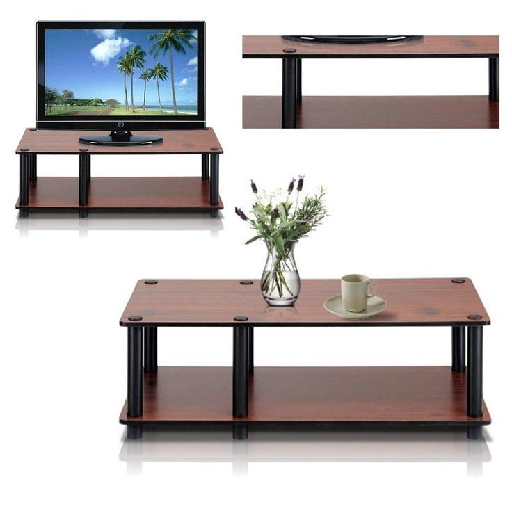 Dark cherry simple TV stand media entertainment center storage cabinet furniture #PerfectAllinaceLad #Contemporary