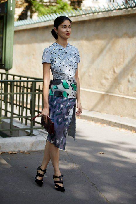 Caroline Issa - Michael Van Der Ham dress, Paris Fashion Week.
