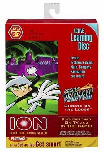 Ion: Danny Phantom - Ghosts on the Loose by Hasbro. $4.00. Ages 6-7.. Adult supervision required.. For use exclusively with the ION EDUCATIONAL GAMING SYSTEM¿ console (sold separately).. From the Manufacturer                Pop this Active Learning Disc into your ION EDUCATIONAL GAMING SYSTEM console (sold separately), and put your child right in the action! Unique motion-sensing technology puts kids live on TV and actively in the game! Each action-packed game provides three...