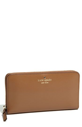 kate spade new york 'tudor city - lacey' zip around wallet