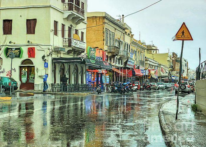Urban Rain Greeting Card by Eleni Mac Synodinos
