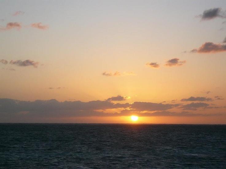 sunrise on south Cuban waters