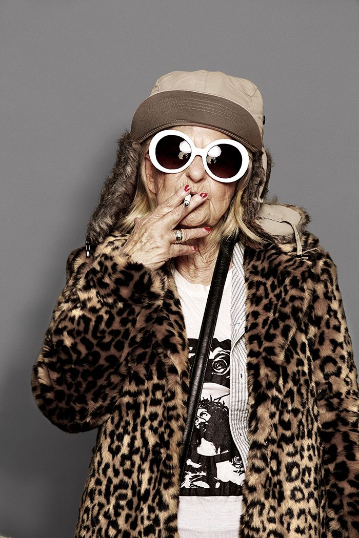 Baddie Winkle Transformed Into Kurt Cobain. I m gonna be this lady some  day.  7ab8735a709