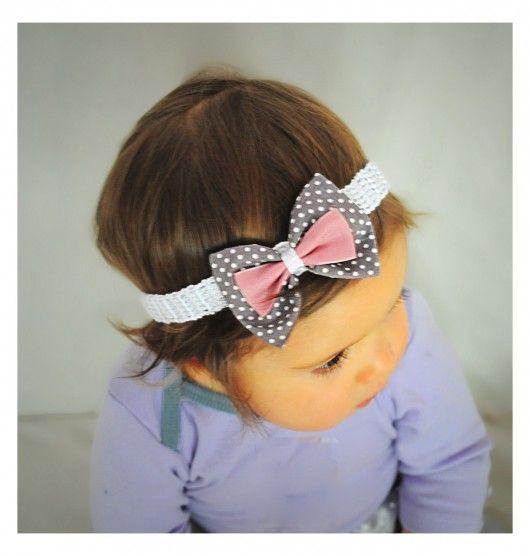 akcesoria - ozdoby do włosów-Kokardka - opaska dla dziecka