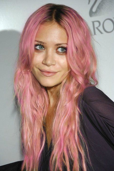 Olsen: Hair Ideas, Olsen Twins, Hairstyles, Pink Hair, Pinkhair, Makeup, Mary Kate Olsen, Beauty, Hair Color
