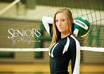 Volleyball senior picture ideas for girls. How often do you see a Libero in the net? #volleyballseniorpictureideas #seniorsbyphotojeania