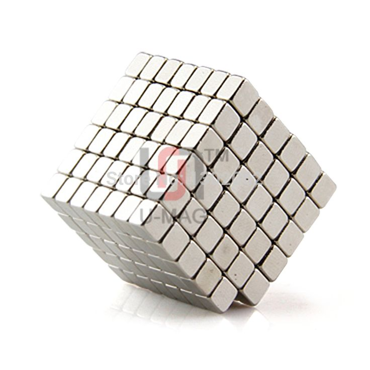 Free shipping wholesale 100pcs Strong mini block 4x4x3mm N50 Rare Earth NdFeB Cuboid neodymium Magnet