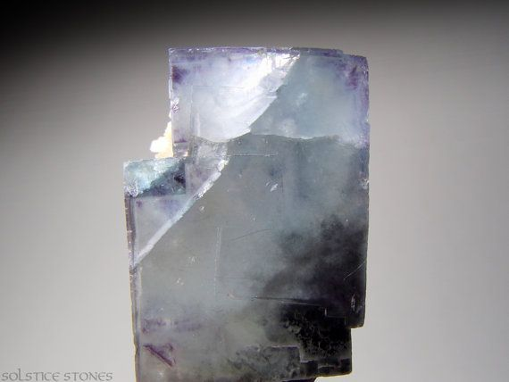 Blue Fluorite Crystal Cluster with Purple by SolsticeStones, $55.00
