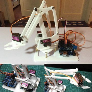4DOF DIY MiniArm Robot Manipulator Robot Arm with Arduino UNO R3 Sale - Banggood.com