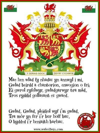 Welsh national anthem...