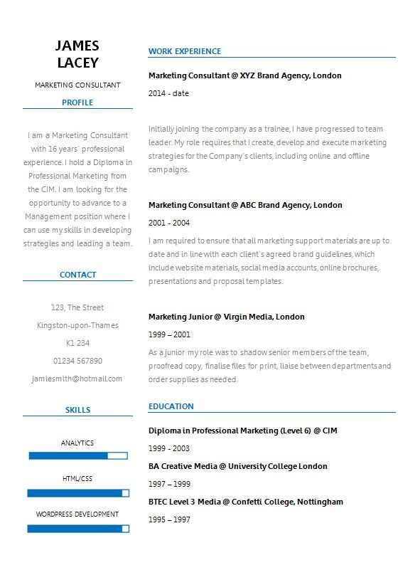 Fresh Two Column Cv Template Cv Template Master Cv Template Overused Words Resume Template
