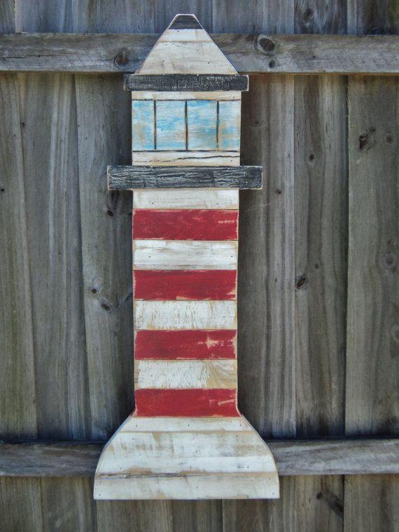 Vintage Weathered Style Lighthouse Nautical Wall Art