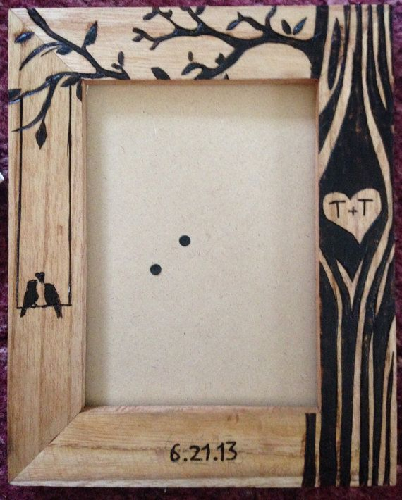 Hey, I found this really awesome Etsy listing at https://www.etsy.com/listing/237973190/personalized-wood-burned-couples-frame