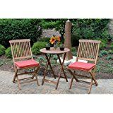 #4: Coastal Style 3 Piece Bistro Patio Set, Includes 1 Folding Table And 2 Folding Chairs With Red Cushion, Made Of Solid Wood, Water And Weather Protected, Presented In A Brown Umber Stain Finish  https://www.amazon.com/Coastal-Folding-Cushion-Protected-Presented/dp/B06X9MY7PF/ref=pd_zg_rss_nr_lg_16135379011_4?ie=UTF8&tag=a-zhome-20
