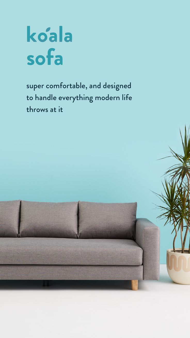 Introducing The Ultra Comfy Koala Sofa Delivered In 4