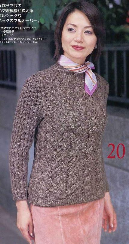 японские журналы по вязанию модель спицами Sweater Knitting