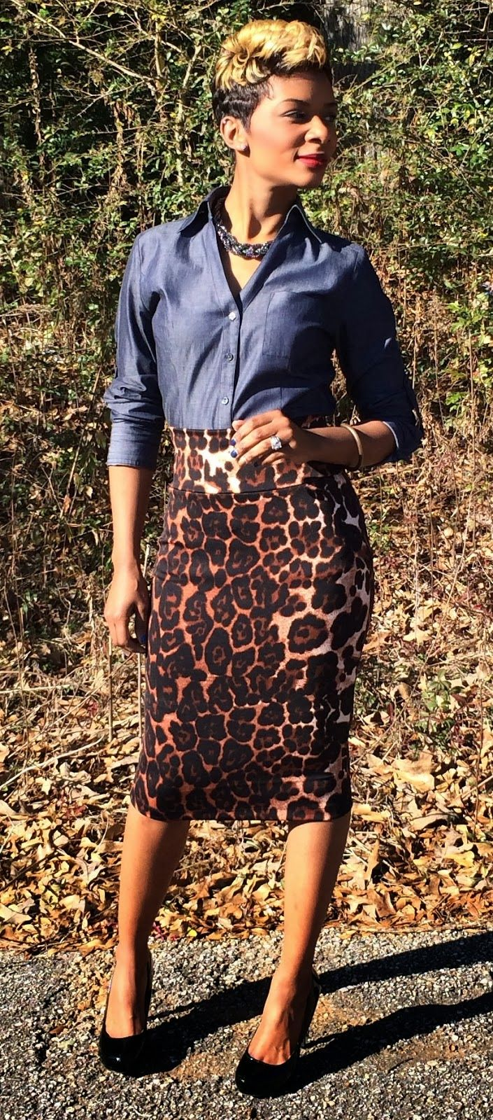 Leopard print High waisted pencil skirt? Yes please!