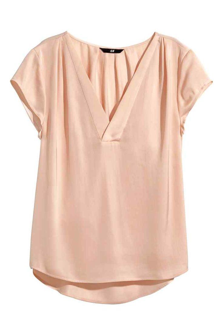 Blusa de cuello de pico | H&M