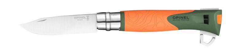 COUTEAU DE CHASSE ET SURVIE Le N°12 Explore concentre toutes les qualités et fonctionnalités clés pour être un élément indispensable de l'équipement d'immersion en nature. Acier inoxydable Sandvik:Facilité d'entretien Résiste à la corrosion Manche en polyamide chargé en fibre de verre: Résistance aux chocs, aux températures extrêmes (-40 à +80 °C) et à l'humidité Sifflet sans bille d'une puissance de 110 dB intégré au manche Lame robuste de 10cm (épaisseur de 2mm) Lame cro...