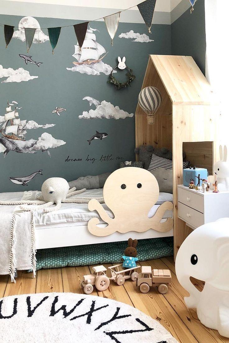 Kalo Kasurnya Memanjang Ikutin Gunung Means Harus Didecor Memanjang Juga Kid Room Decor Baby Boy Rooms Kids Room Design Baby boy bedroom sets