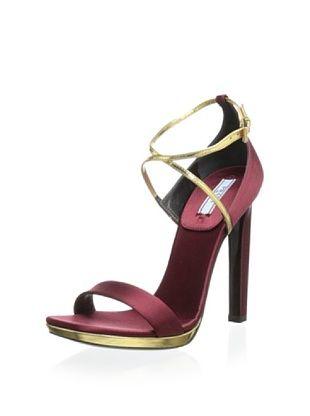 50% OFF Prada Women's High Heel Sandal (Maroon)