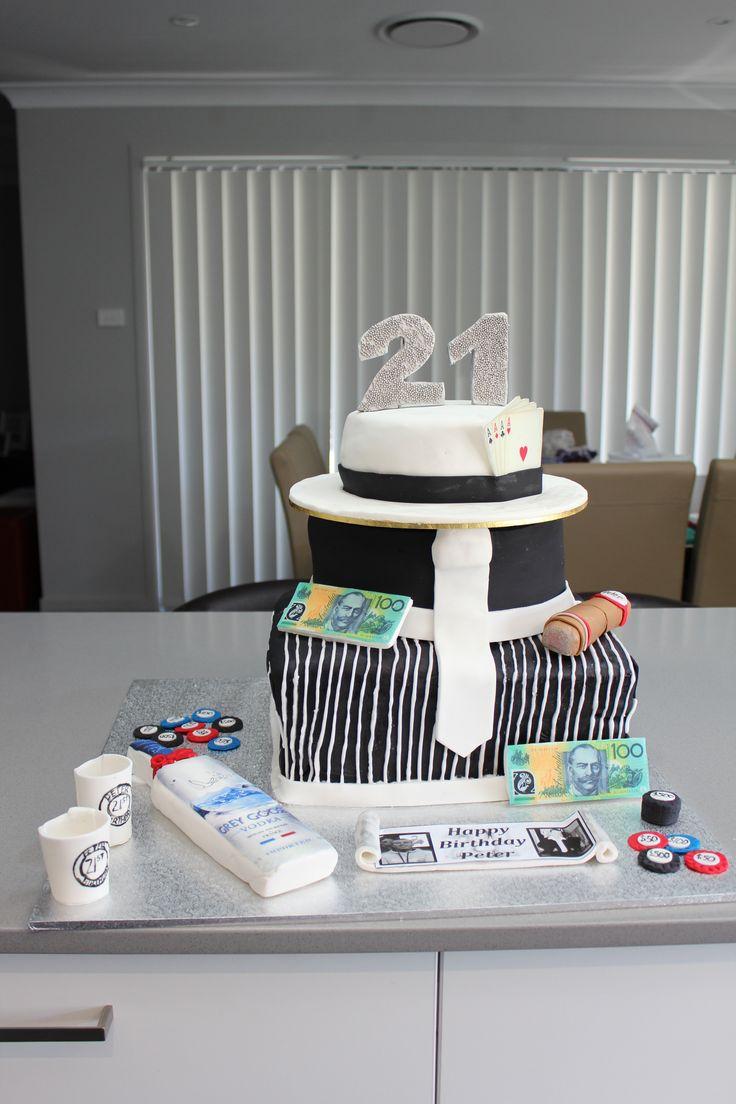mafia themed cake