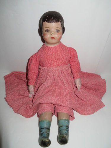 "RARE Antique 1905 Ella Smith Alabama Baby 20"" Indestructible Cloth Child Doll | eBay"