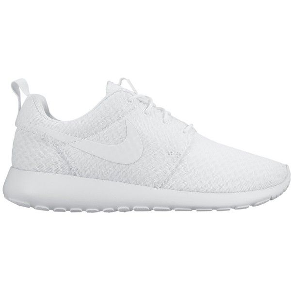 Nike Roshe One Women's Trainers, White found on Polyvore featuring shoes, sneakers, traction shoes, nike footwear, plimsoll shoes, lightweight shoes and nike