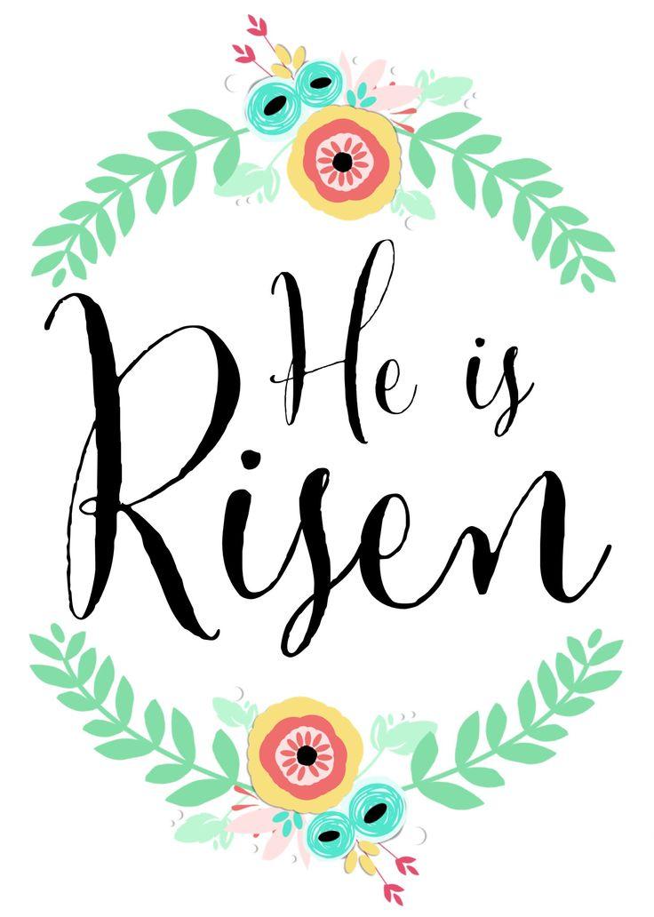 """He Is Risen"" free printable (5x7) | www.therefurbishedlife.com #easter #heisrisen #Jesus #printable"