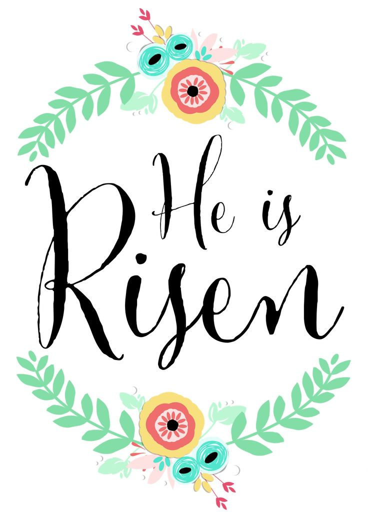 """He Is Risen"" free printable (5x7) 