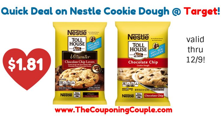 YUMMY! Super easy deal to pick up this week! Quick Deal on Nestle Cookie Dough @ Target!  Click the link below to get all of the details ► http://www.thecouponingcouple.com/quick-deal-on-nestle-cookie-dough-target/ #Coupons #Couponing #CouponCommunity  Visit us at http://www.thecouponingcouple.com for more great posts!