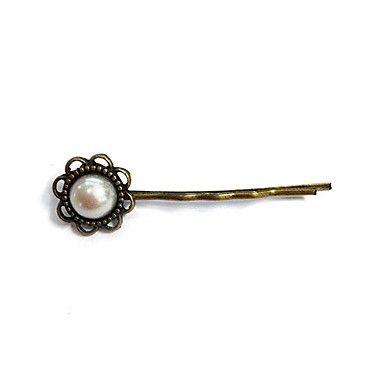 fashion vintage parel bloem bronslegering haarspeld (1 st) – EUR € 1.91