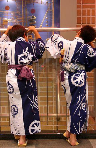 kids in yukata, Japan