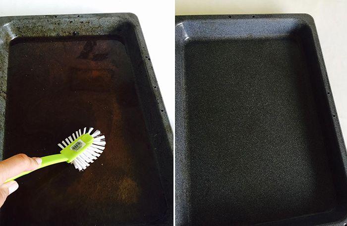 Sådan får du nemt bradepanden ren igen med to overraskende ingredienser | Dagens.dk