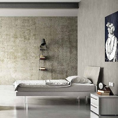 Contemporary, elegant 'Riri' bed by Orme