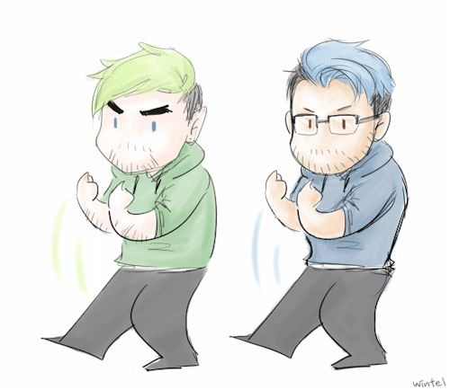 winteldoesfanart: me trying to get my favourite people into my gang(read: get them into JSE or Markiplier videos) still waiting for the verdict maaaann therealjacksepticeye: So cute!!!