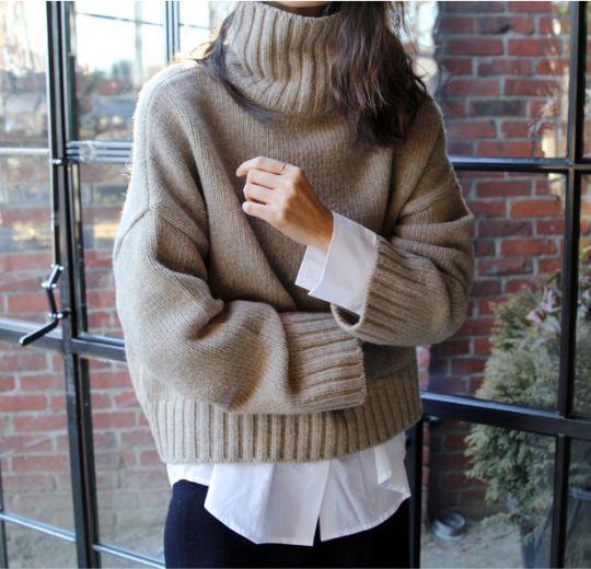 Большой свитер, слои. Layers. Parisian chic