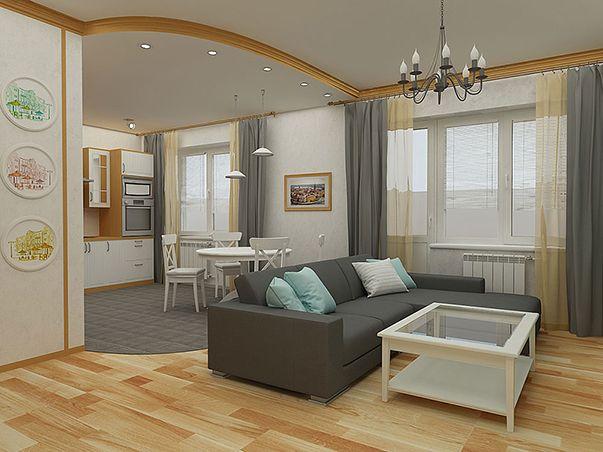 Перепланировка 3-х комнатной квартиры в панельном доме в скандинавском стиле