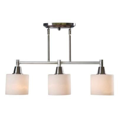 Hampton Bay Oron 3 Light Brushed Steel Island Light Home Islands And The O