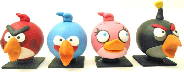 Soporte angry birds en porcelanicron