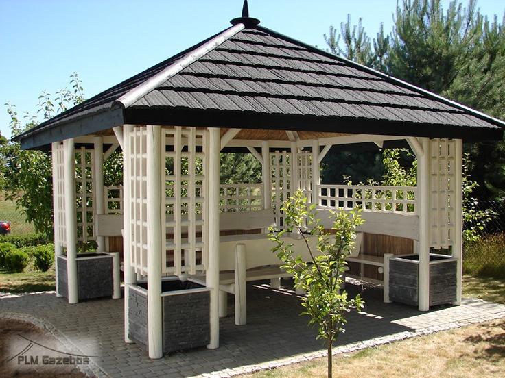 "Garden Wooden Gazebo ""White Pagoda """