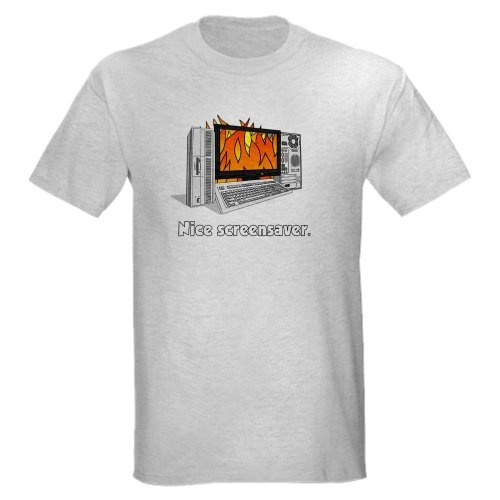 The IT Crowd Screensaver Mens Funny Light T-Shirt by CafePress