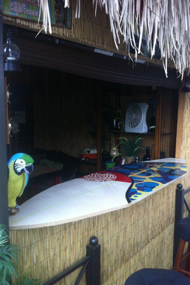 Homemade surfboard bar top tiki bar pinterest for Surfboard bar top ideas