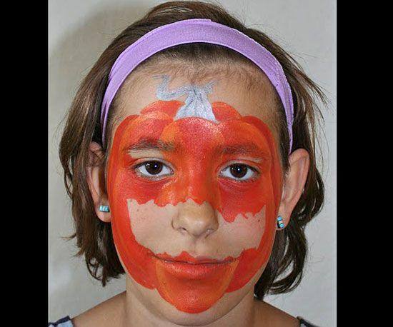 Scary Pumpkin Face Paint