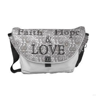 Paisley Faith, Hope & Love Bag (medium) Commuter Bags