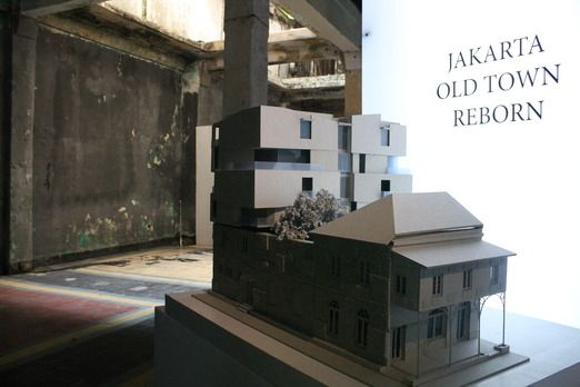 "Architectural revival: The exhibition, curated by Yori Antar and themed ""Jakarta Old Town Reborn: 7 Projects for the C..."