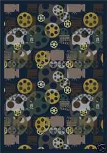 Movie Theater Rug Home And Area Real Carpet Ebay