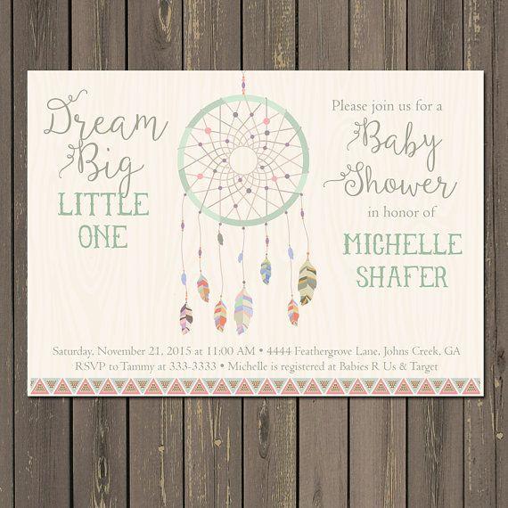 Dream Catcher Baby Shower Invitation Tribal by PartyPopInvites