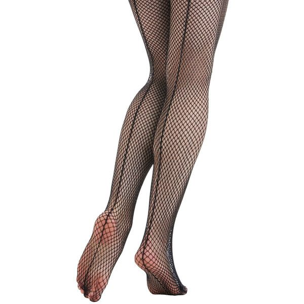 Pinup Dream Seam Tights by ModCloth ($3.99) ❤ liked on Polyvore featuring intimates, hosiery, tights, black, black fishnet tights, black fishnet stockings, fishnet hosiery, black hosiery and pinup stockings