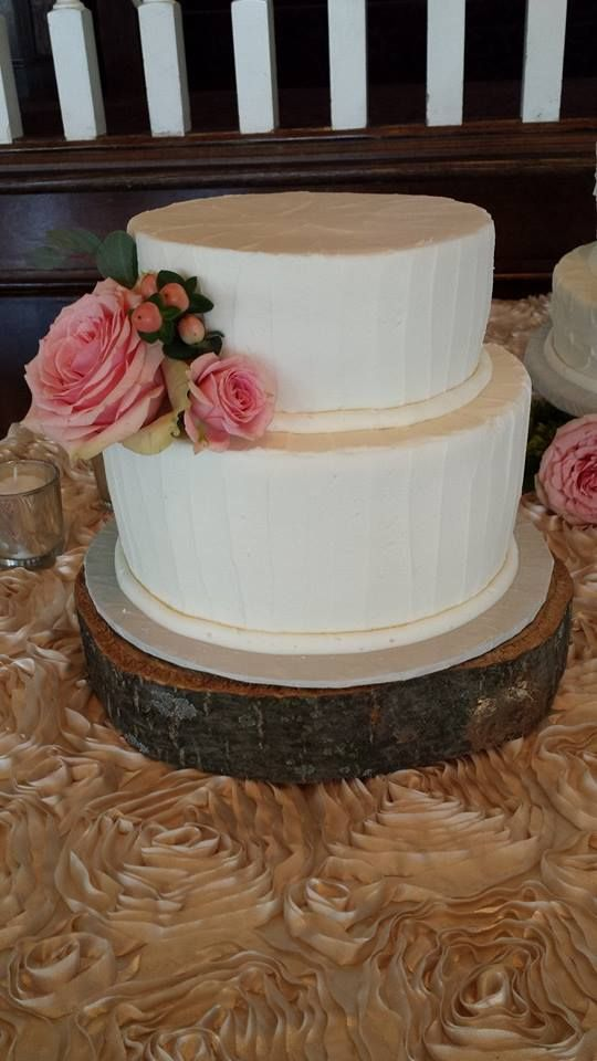 Two Tiered Simple Wedding Cake with real flowers By Tasty Layers Custom  Cakes84 best Tasty Layers Wedding Cakes images on Pinterest   Custom  . Real Simple Wedding Cakes. Home Design Ideas